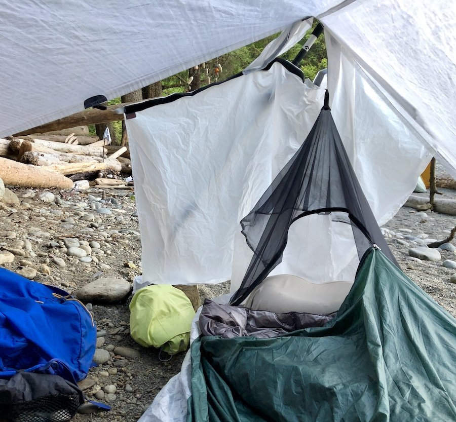 Bivy Quilt Sleep System on West Coast Trail