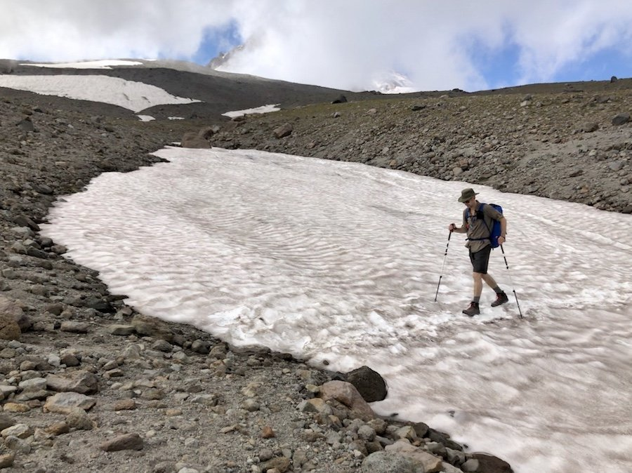 Mount Hood Timberline Trail - Glacier Crossing on the East Side