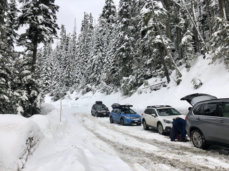 Limited Parking Area for Salmon Ridge Point Trail at Mount Baker