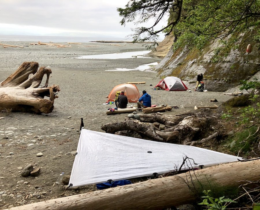 Camping at Camper Bay, West Coast Trail