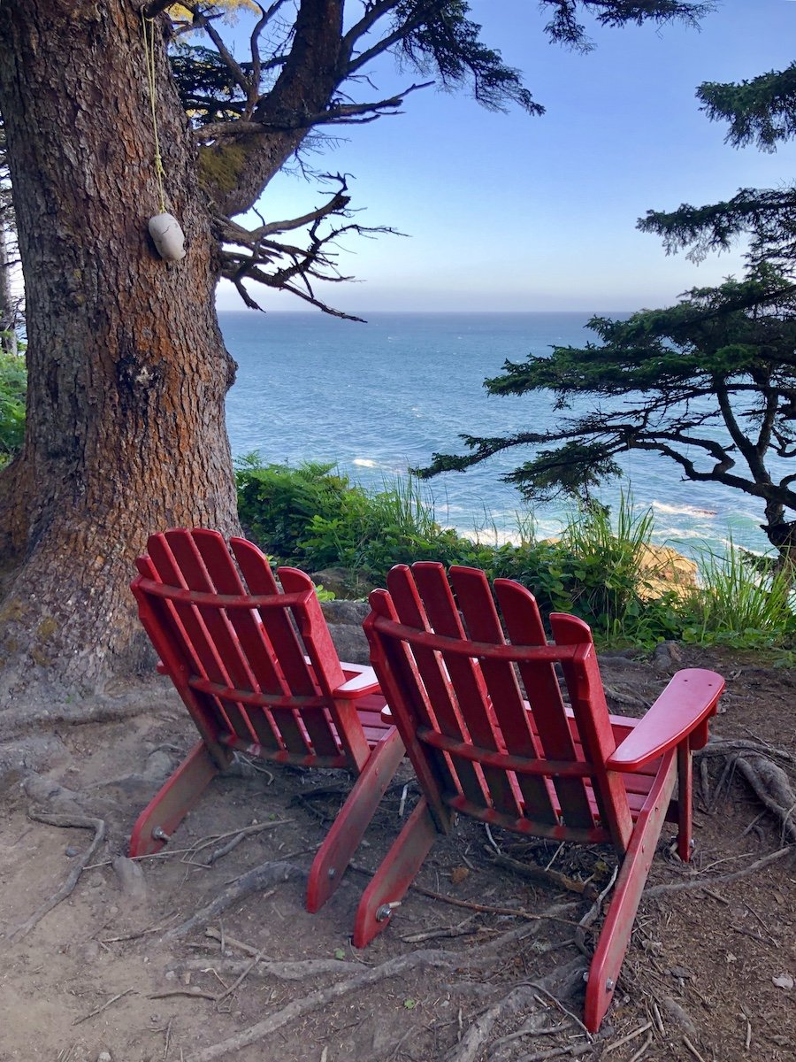 Adirondack Chairs at Valencia Bluffs on the West Coast Trail
