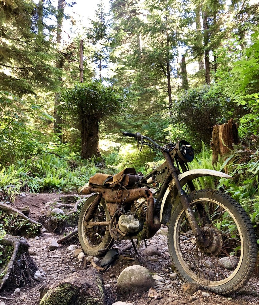 Derelict Motorcycle on the West Coast Trail