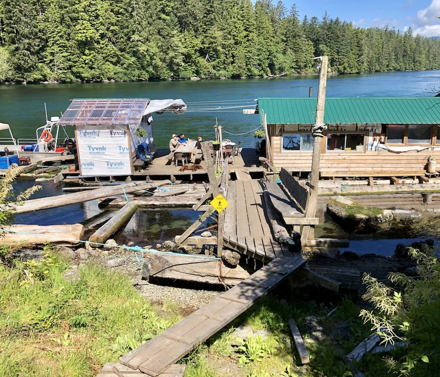 Looking back at The Crab Shack and Nitinaht Narrows on the West Coast Trail