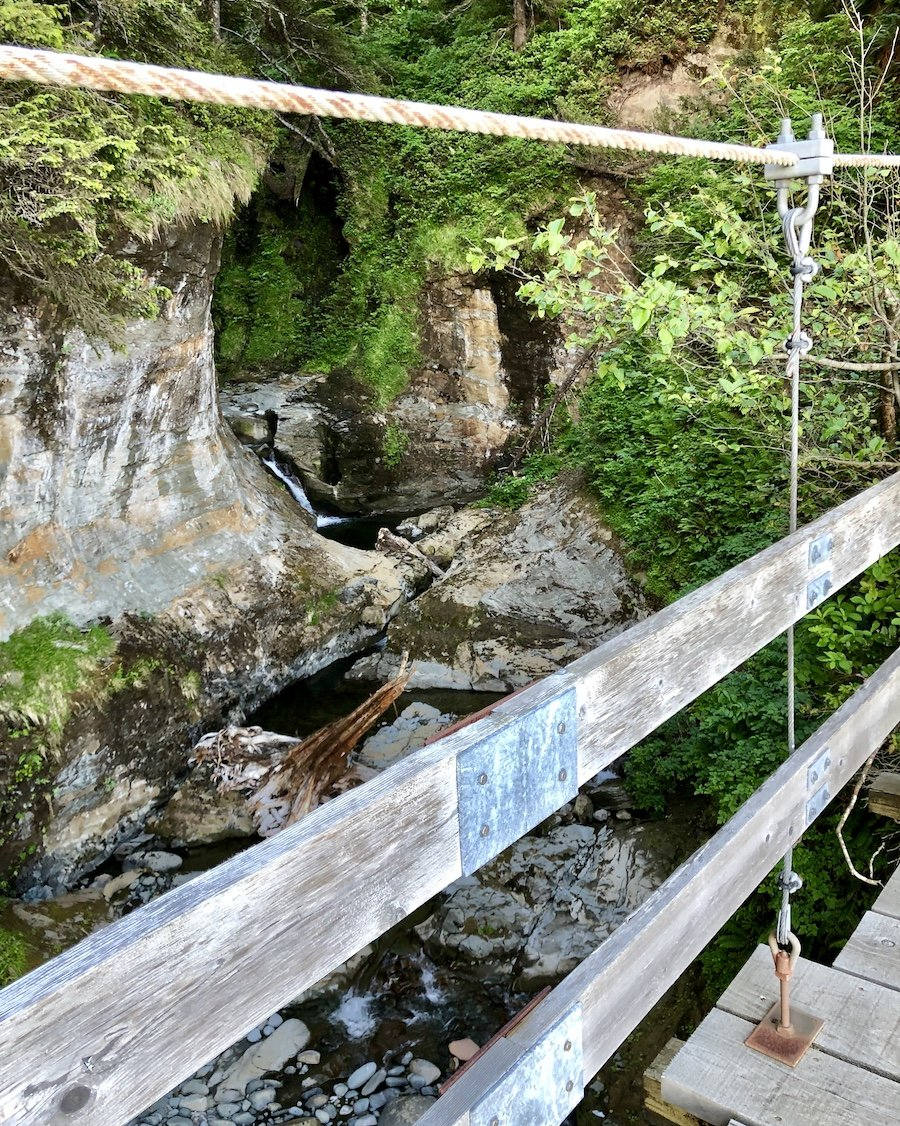 Tsocowis Creek bridge on the West Coast Trail