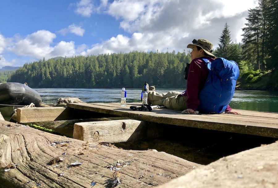Waiting for the Ferry at Nitinaht Narrows on the West Coast Trail