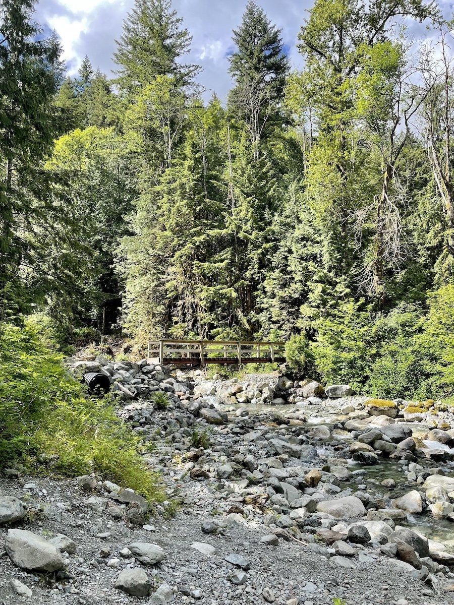 Creek Crossing Bridge on West Canyon Trail Golden Ears Provincial Park