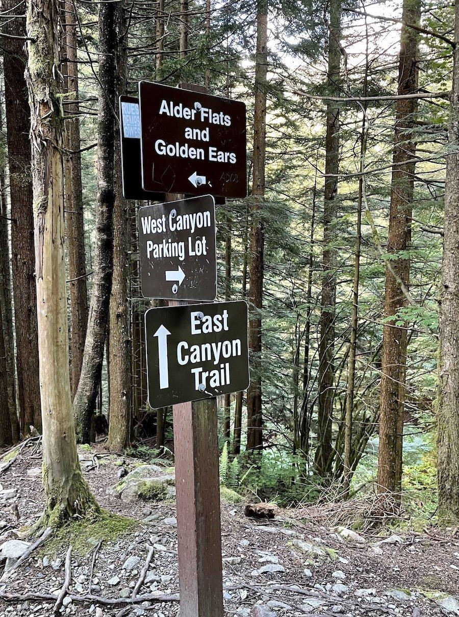 Trail Signpost, Golden Ears Provincial Park