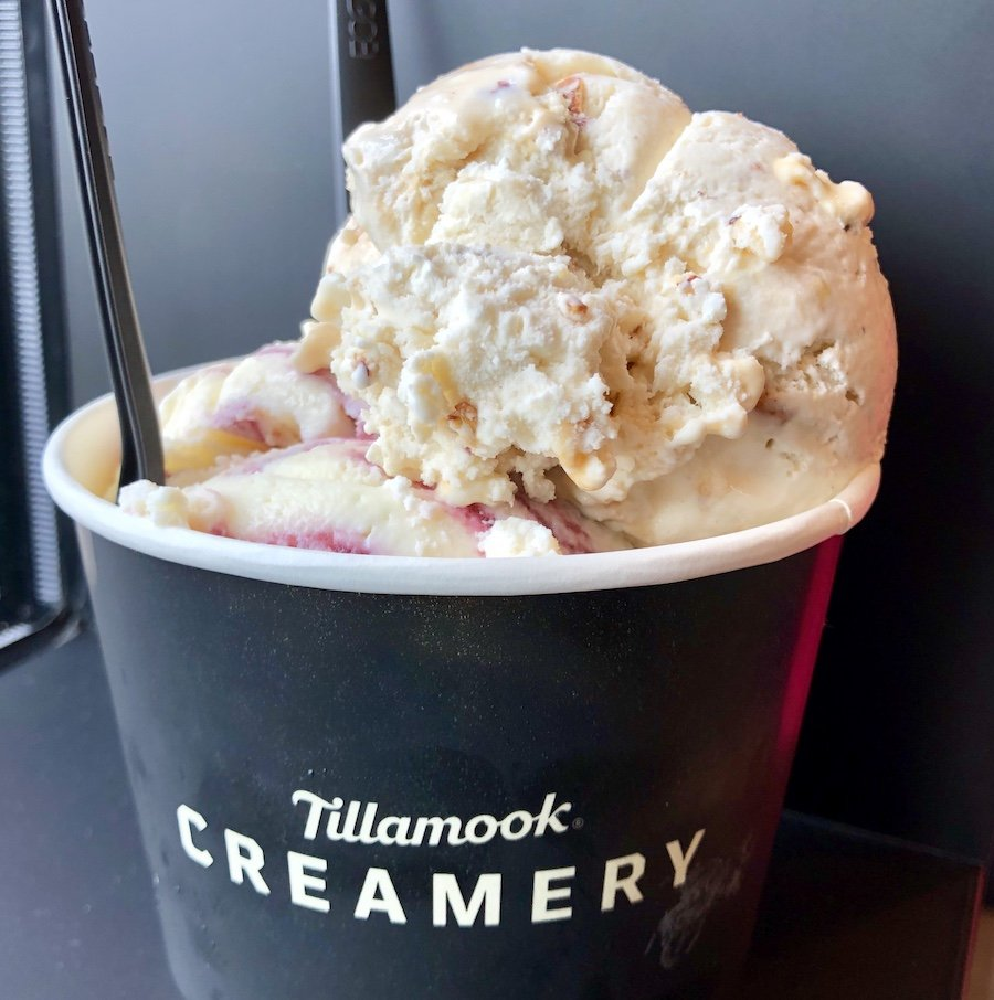 Marionberry Pie, Oregon Hazelnut Salted Caramel, Pendleton Whiskey Maple Ice Cream at Tillamook Creamery