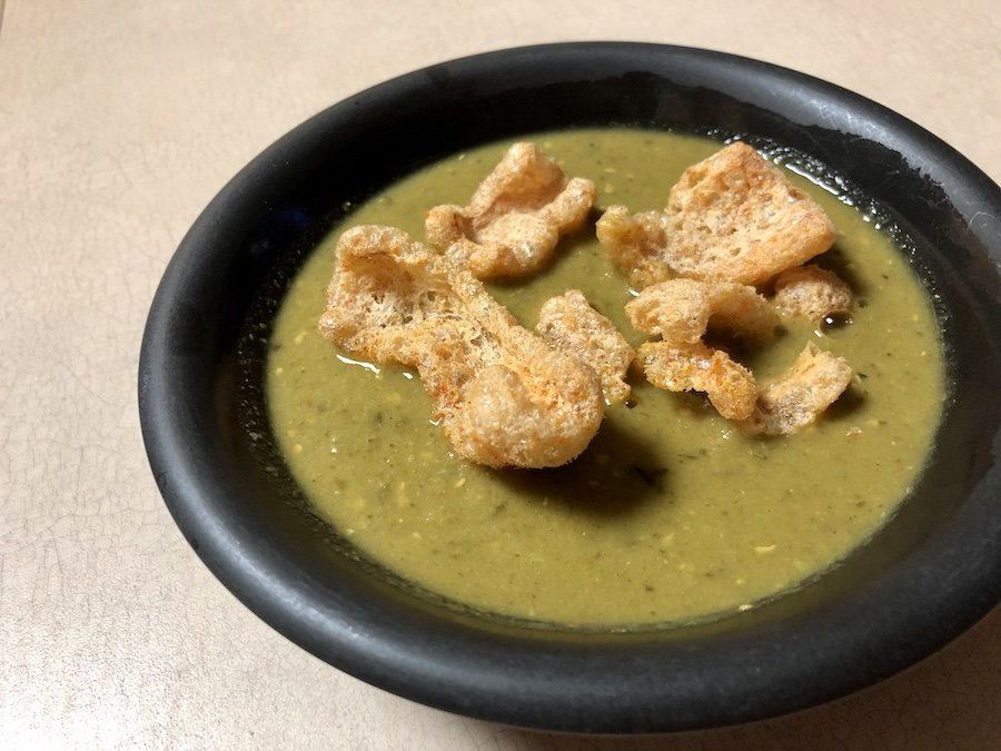Sprague Keto Simply Greens Canned Soup with Pork Rinds