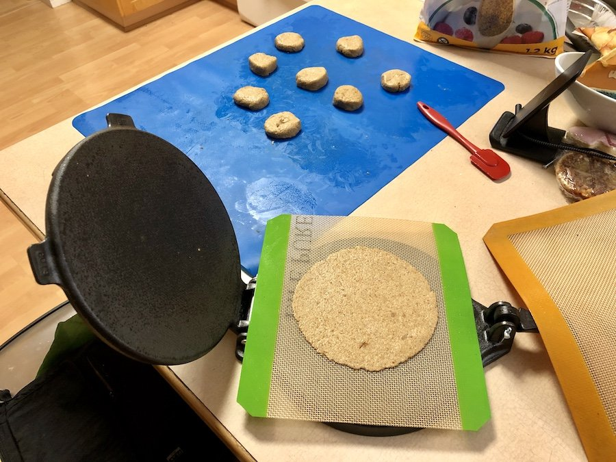 Victoria Cast Iron Tortilla Press in Action