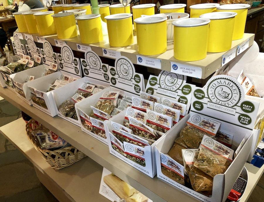 Market-to-Market spice blends for dips at Blue Heron French Cheese Company