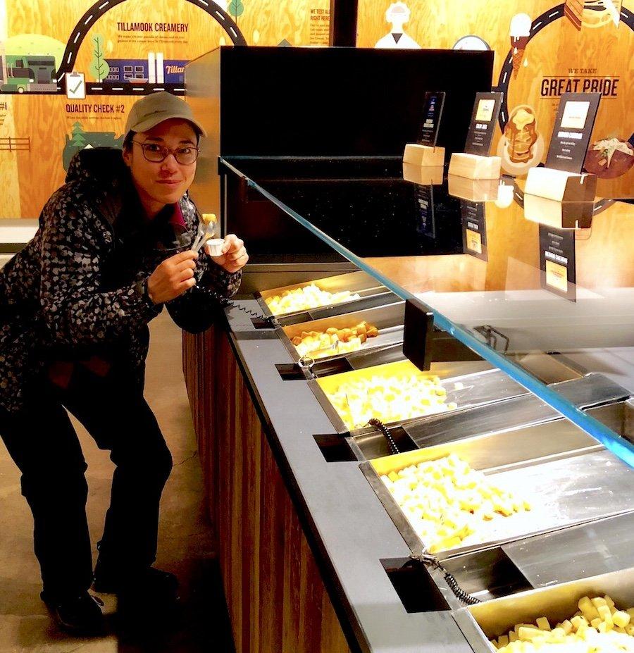 Tillamook Creamery Cheese Tasting
