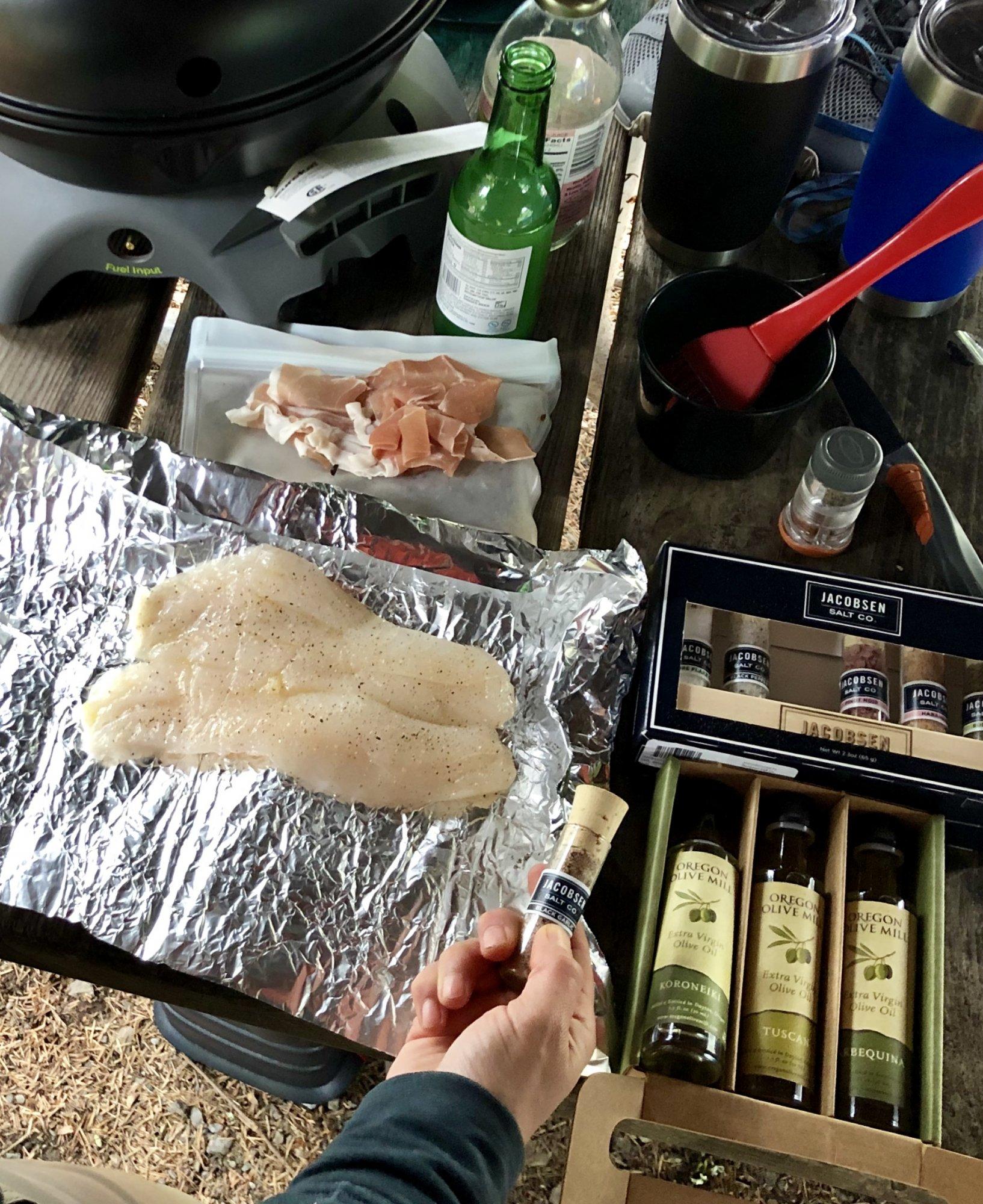 Cooking rockfish from Pacific Ocean Harversters, Brookings, Oregon