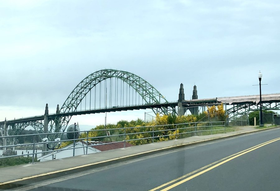 Yaquina Bay Bridge in Newport on the Oregon Coast