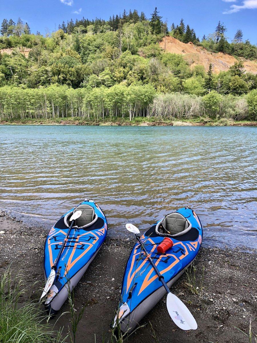Kayaking the Chetco River, Oregon