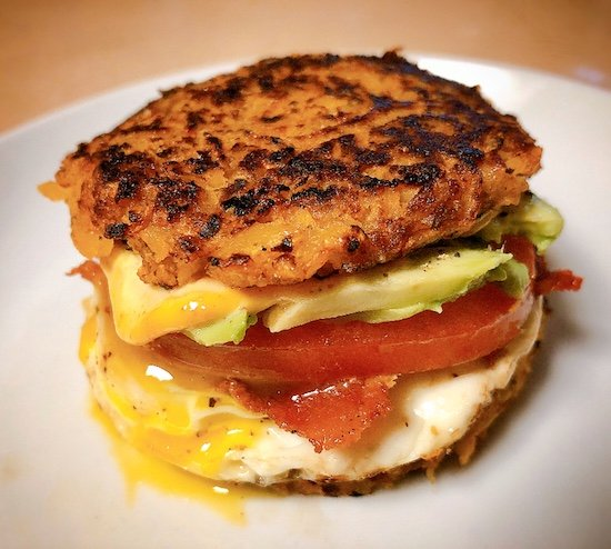 Rutabaga Hash Brown Breakfast Sandwiches Keto Low Carb Vegetarian Option