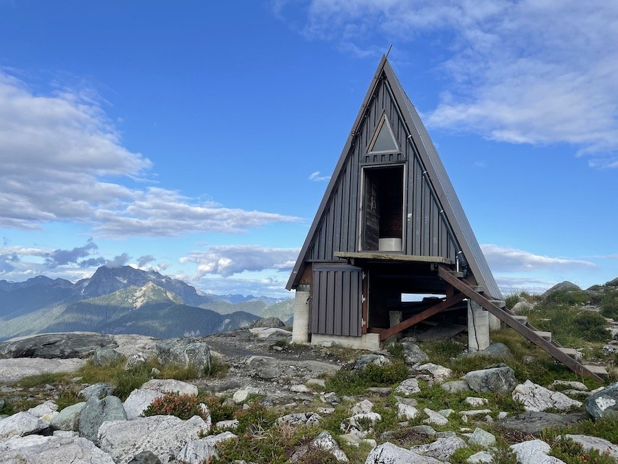 Emergency Hut and Outhouse, Panorama Ridge Golden Ears Provincial Park