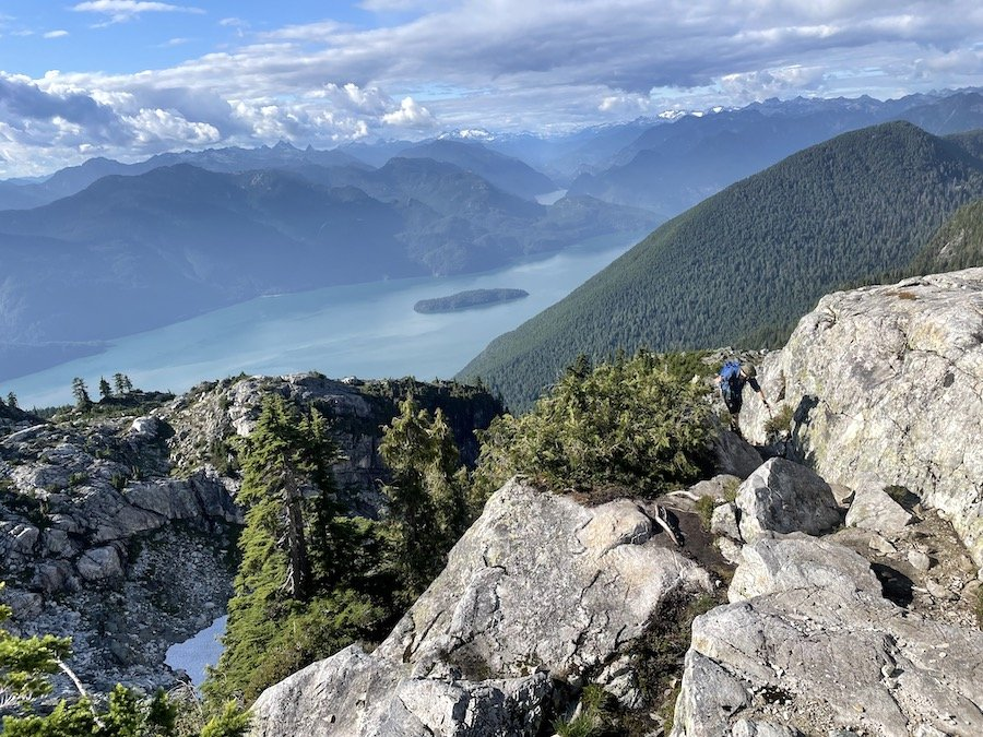 Finishing the last technical section of the Golden Ears Trail