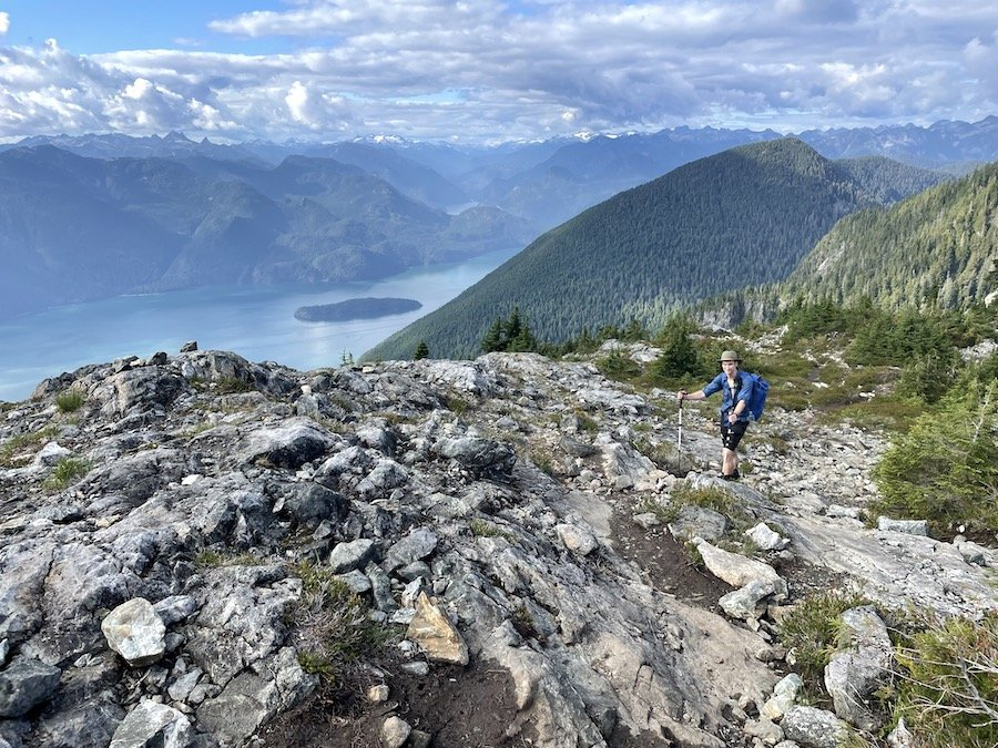 Hiking along with a gorgeous view on the Golden Ears Trail