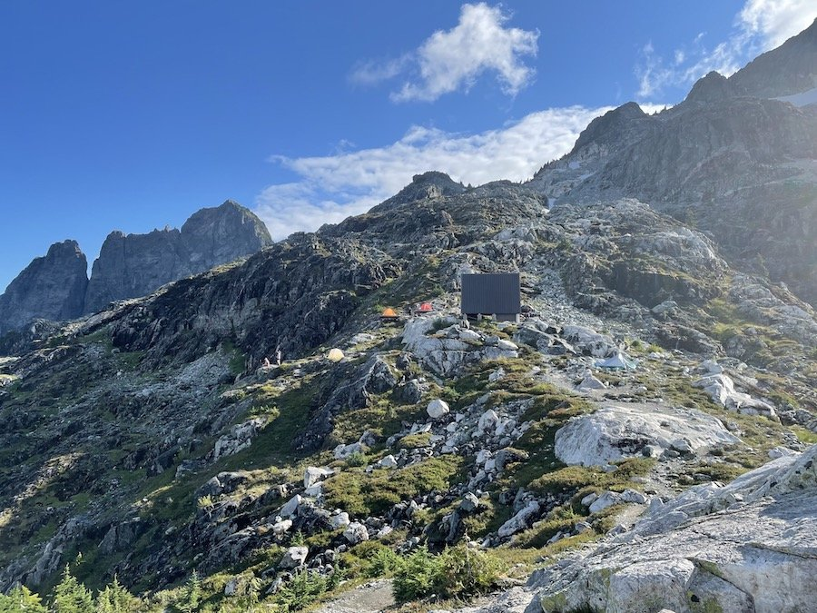 First glimpse of Panorama Ridge camp area, Golden Ears Trail