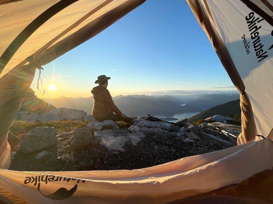 Watching the sun set Panorama Ridge Golden Ears Provincial Park
