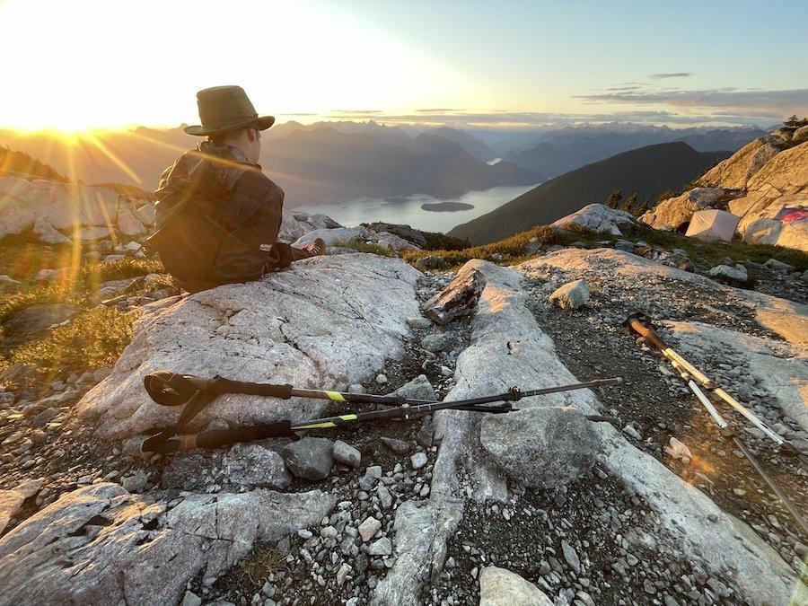Sunset gazing on Panorama Ridge Golden Ears Provincial Park