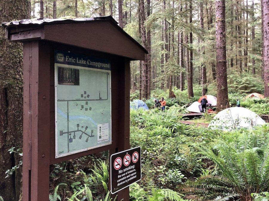 Eric Lake Campsite, Cape Scott Trail, Cape Scott Provincial Park