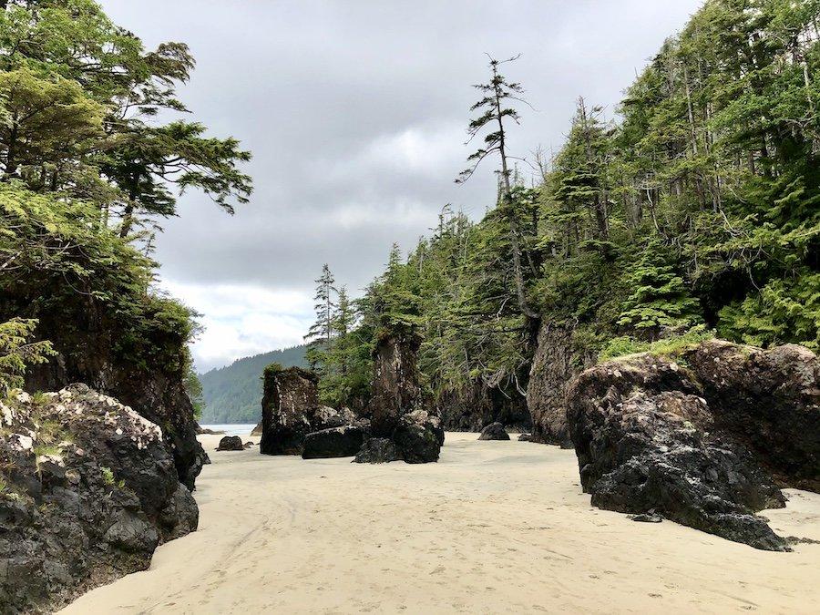 Rock formations at San Josef Bay, Cape Scott Provincial Park