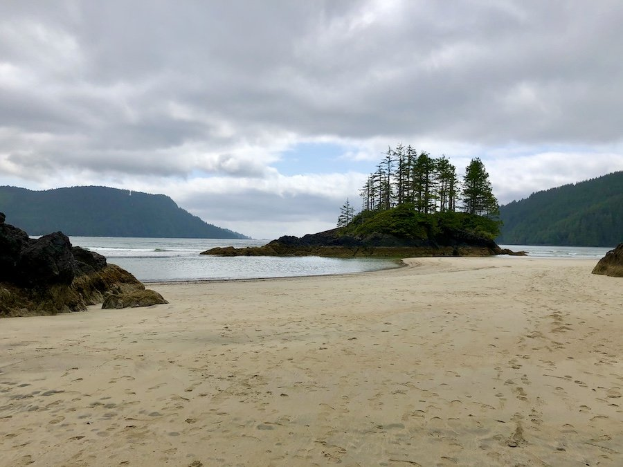 Sea island at San Josef Bay, Cape Scott Provincial Park