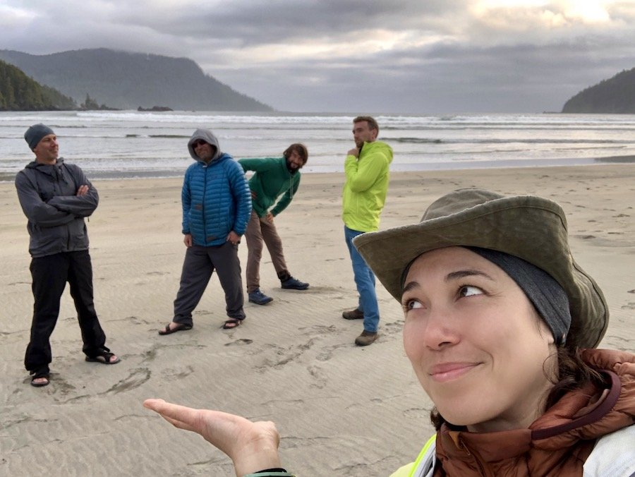 Hanging with some hiking homies at San Josef Bay, Cape Scott Provincial Park