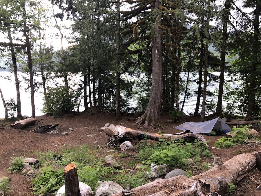 Campsite on the South Baker Lake Trail WA